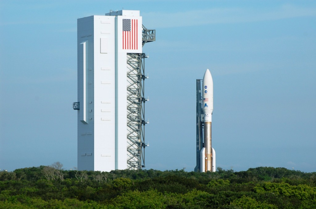 Juno utilized the 551 configuration of United Launch Alliance's Atlas V. Despite the enormous thrust imparted to the spacecraft, Juno only had enough energy to reach the asteroid belt - before being pulled inexorably back toward the inner solar system. Photo Credit: Jason Rhian / The SpaceFlight Group