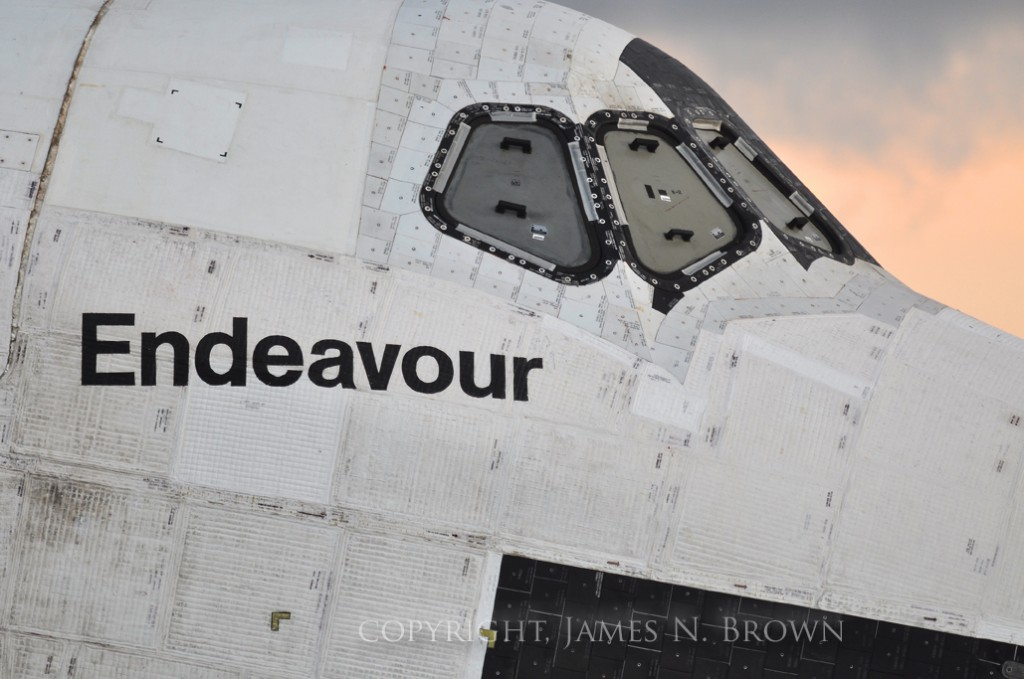 Space shuttle Endeavour photo credit James N. Brown posted on The SpaceFlight Group Insider