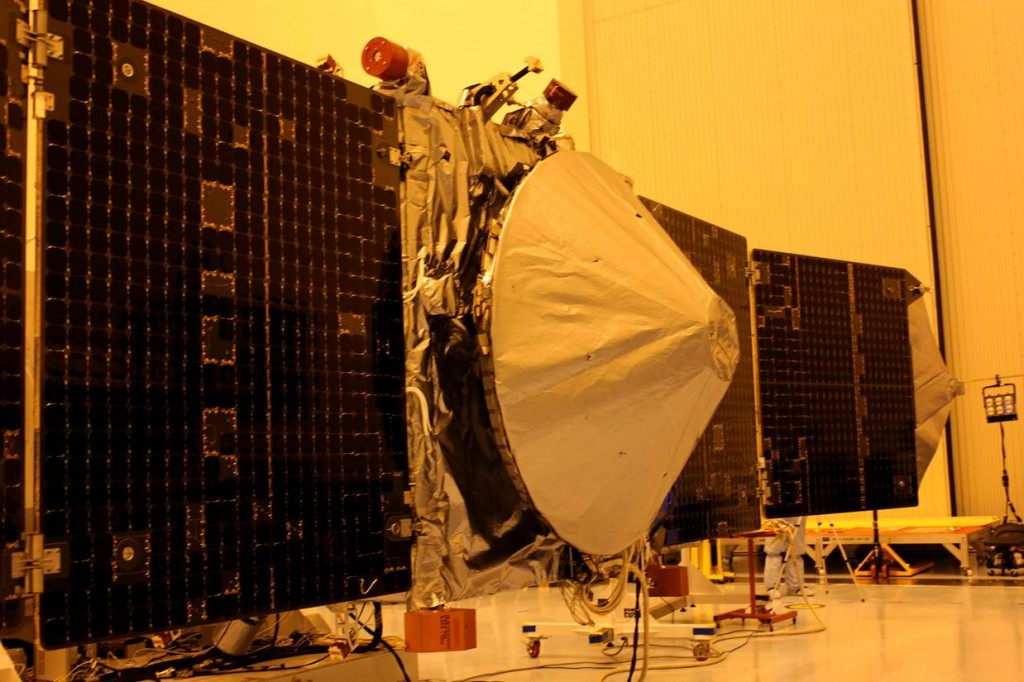 One possible victim of the political battle currently underway is NASA's MAVEN spacecraft, currently slated to launch next month. Photo Credit: Jason Rhian / The Spaceflight Group