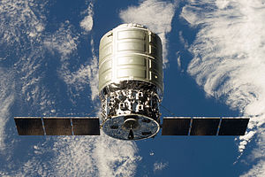 Just a few days prior to the Albert Einstein's departure, Orbital Sciences Corporation's Cygnus 1 spacecraft was detached from the station's Harmony module and directed to  conduct a destructive reentry on Wednesday, Oct. 23. Photo Credit: NASA