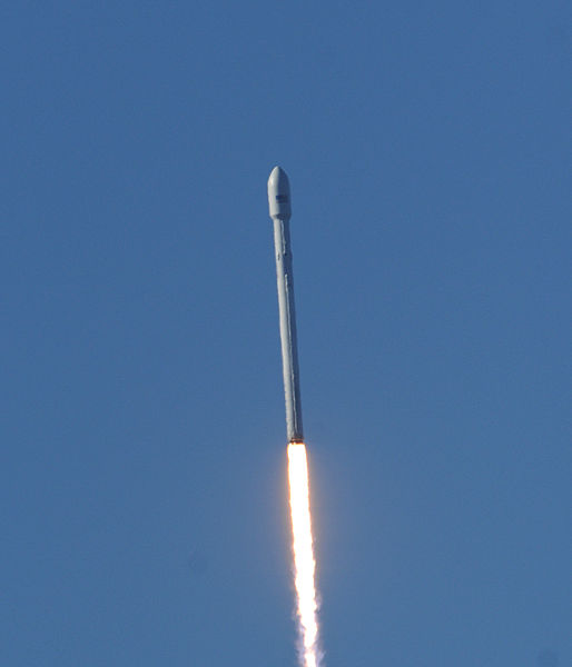 Today's launch marked the second time the F9 v1.1 took to the skies - and the first from Cape Canaveral Air Force Station. Photo Credit: USAF