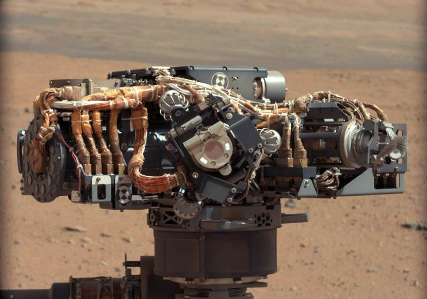 NASA engineers used the Mars Science Laboratory rover Curiosity's MAHLI instrument to take images of the one-ton robot after the soft-short problem was believed to have been resolved. Photo Credit: NASA/JPL-Caltech / MSSS