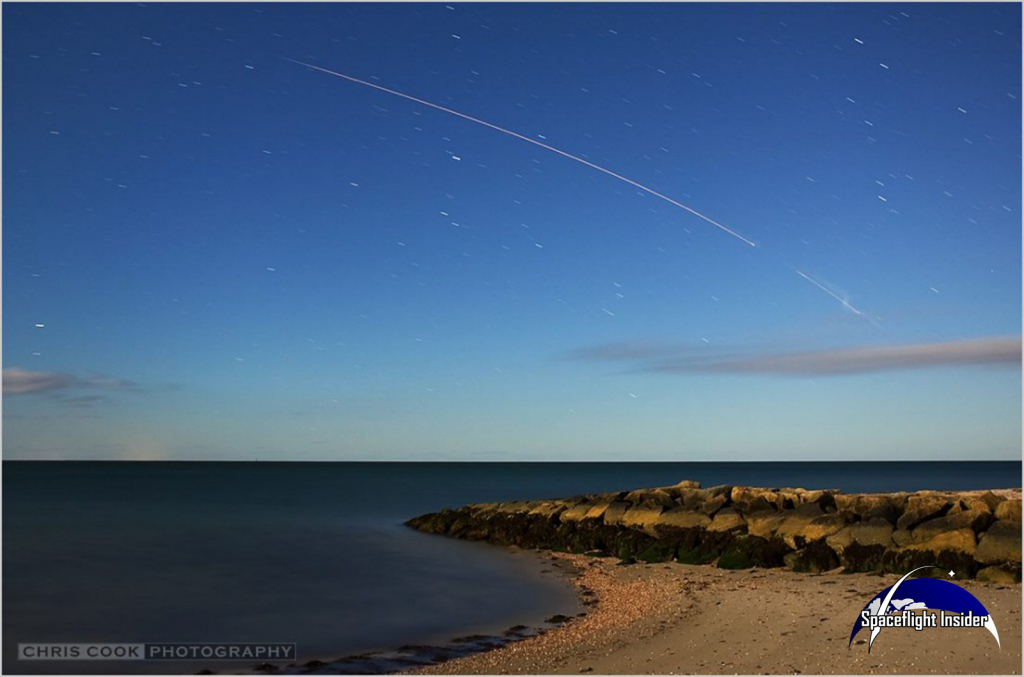 The Minotaur 1 rocket was clearly visible along much of the United States Eastern Seaboard. Photo Credit: Chris Cook (chriscookphoto.com) / SpaceFlight Insider