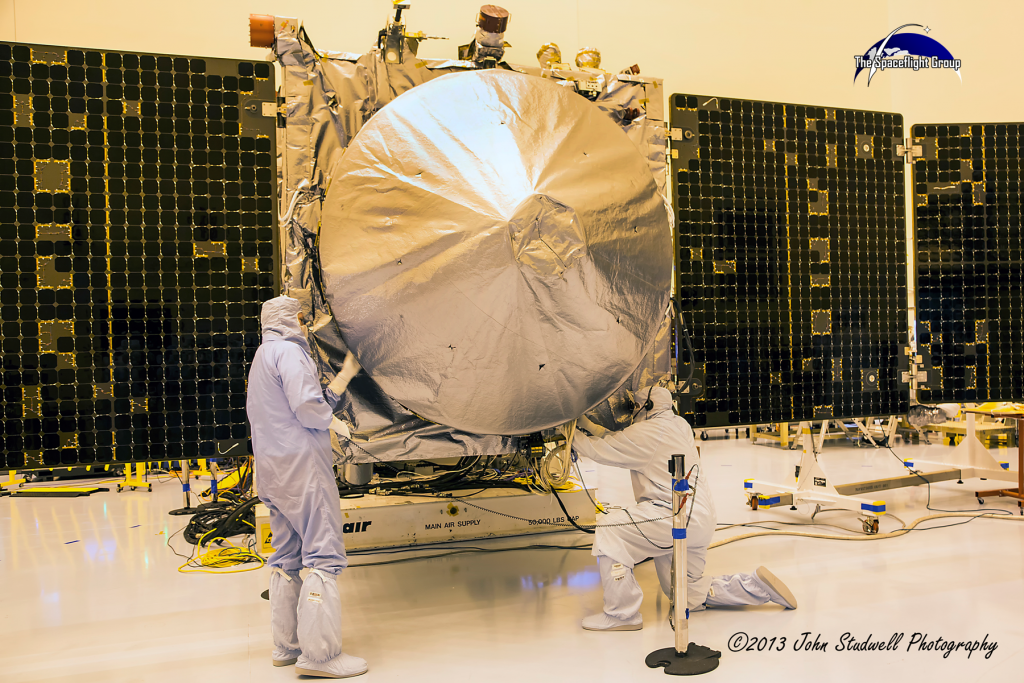 NASA's MAVEN spacecraft has survived several bureaucratic issues that could have cancelled the mission. Photo Credit: John Studwell / The SpaceFlight Group