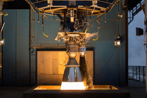 Nine Merlin 1D engines in the rocket's first stage as well as a single Merlin 1D in the second stage powered the SES-8 spacecraft through Earth's atmosphere and into orbit. Photo Credit: SpaceX