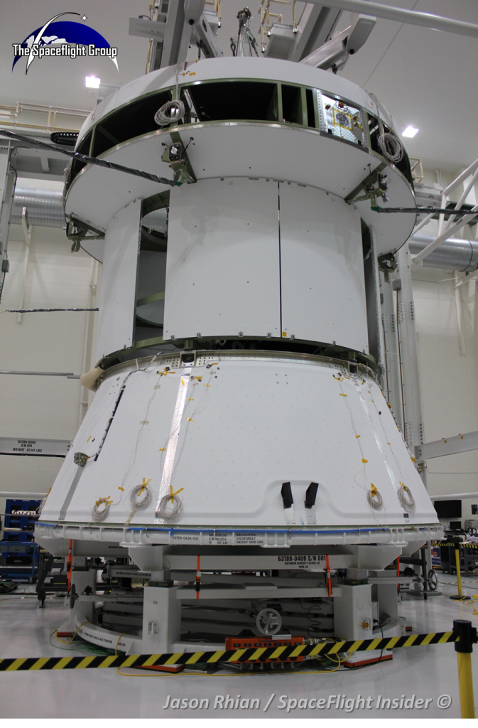 NASA and Lockheed-Martin have done extensive work on the Orion flight test article which will conduct the Exploration Flight Test 1 mission in September of 2014. Photo Credit: Jason Rhian / SpaceFlight Insider