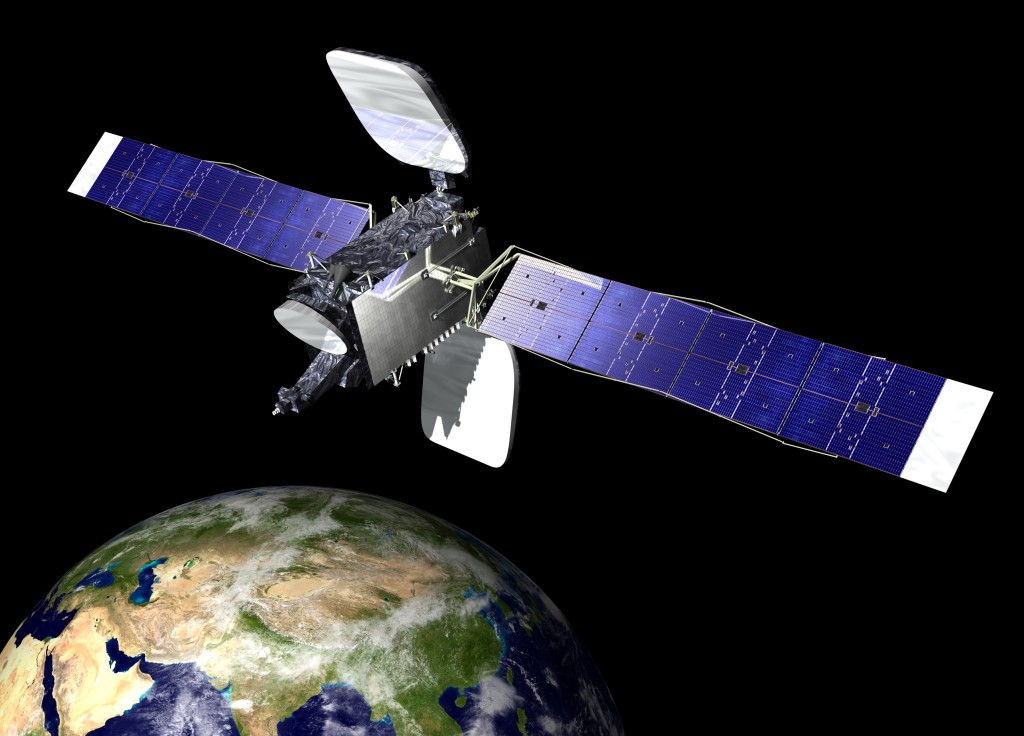 The SES-b spacecraft will be the first satellite that SpaceX places into a geostationary orbit. Image Credit: SES / Orbital Sciences Corporation