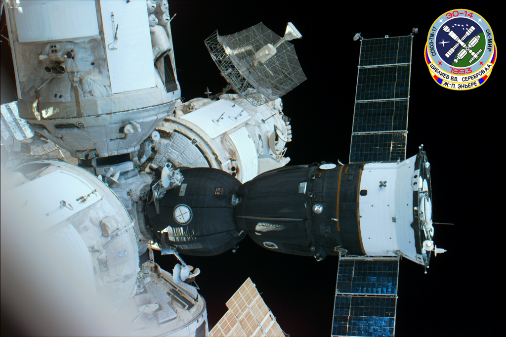 Serebrov's last mission was to the Russian space station Mir. Photo Credit: NASA / STS-79