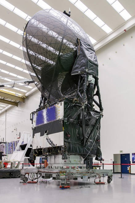 TDRS-L, shown here at the Boeing satellite facility. Photo Credit: Boeing