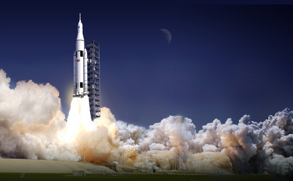 The first unmanned test flight of NASA's Space Launch System is currently scheduled to take place in 2017. Image Credit: NASA