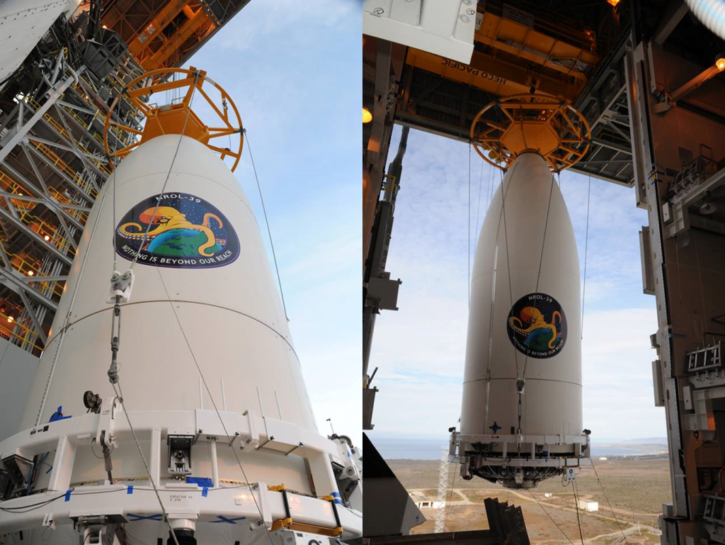 Besides the classified payload, there are some 12 Cubesats that accompanied the NROL-39 spacecraft to orbit. Photo Credit: ULA